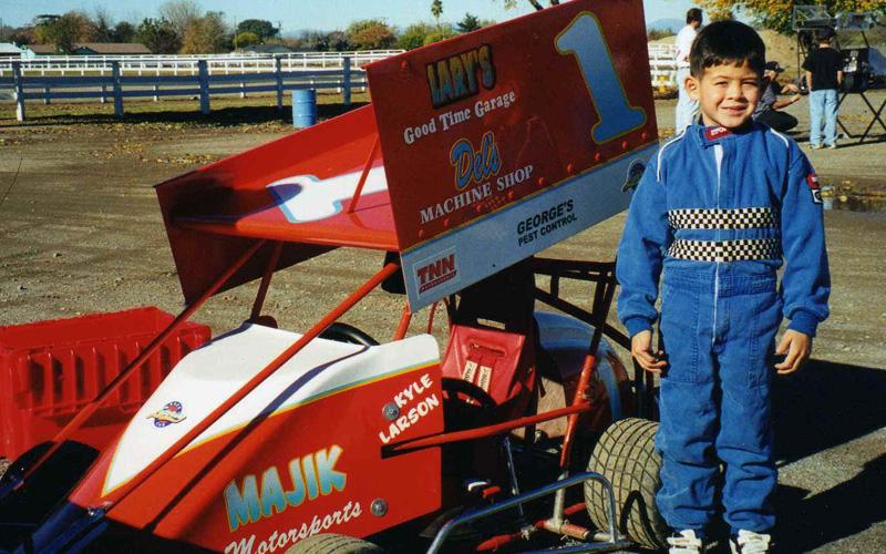 Kyle Larson - Go Kart