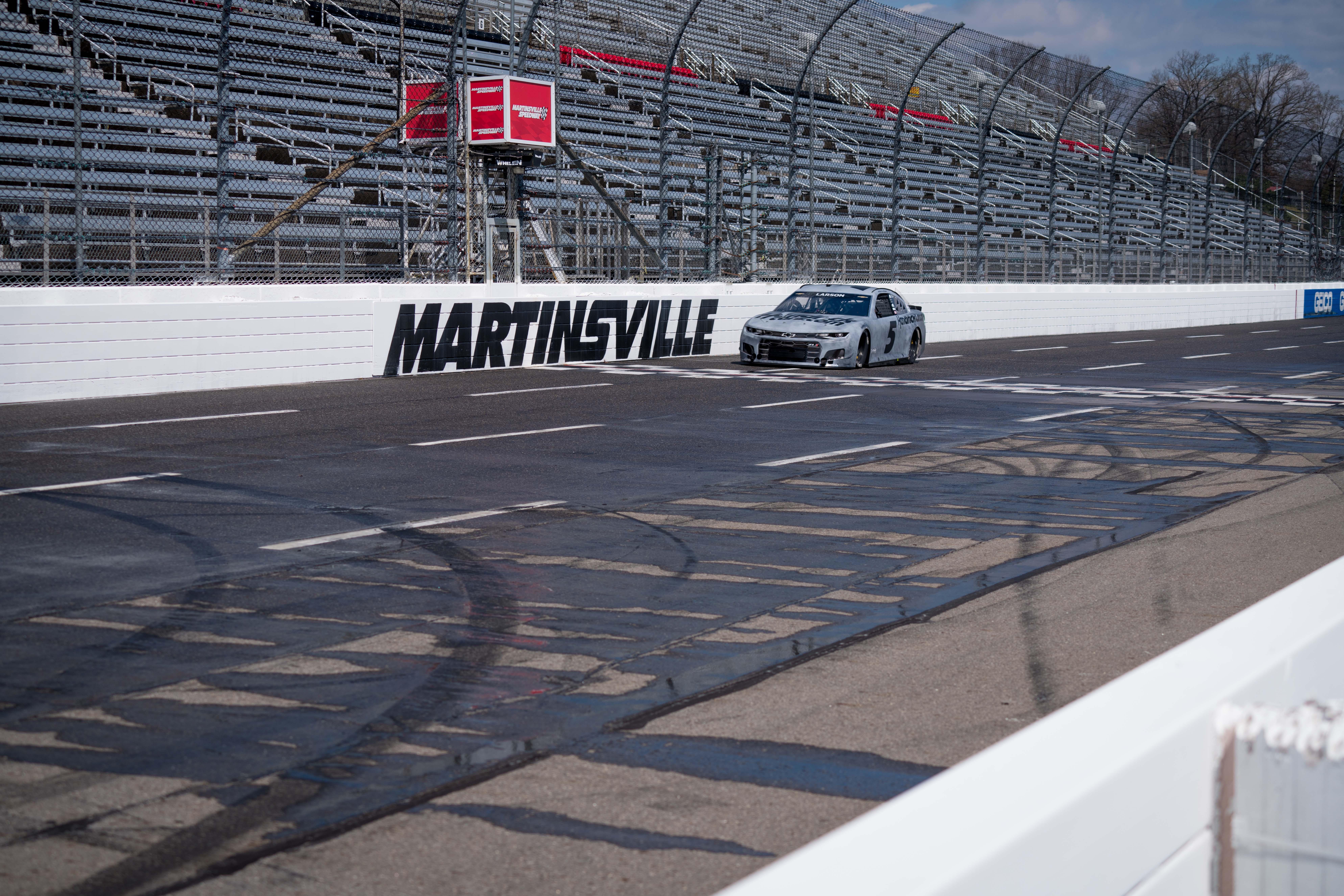 Kyle Larson - NASCAR rain tires at Martinsville Speedway