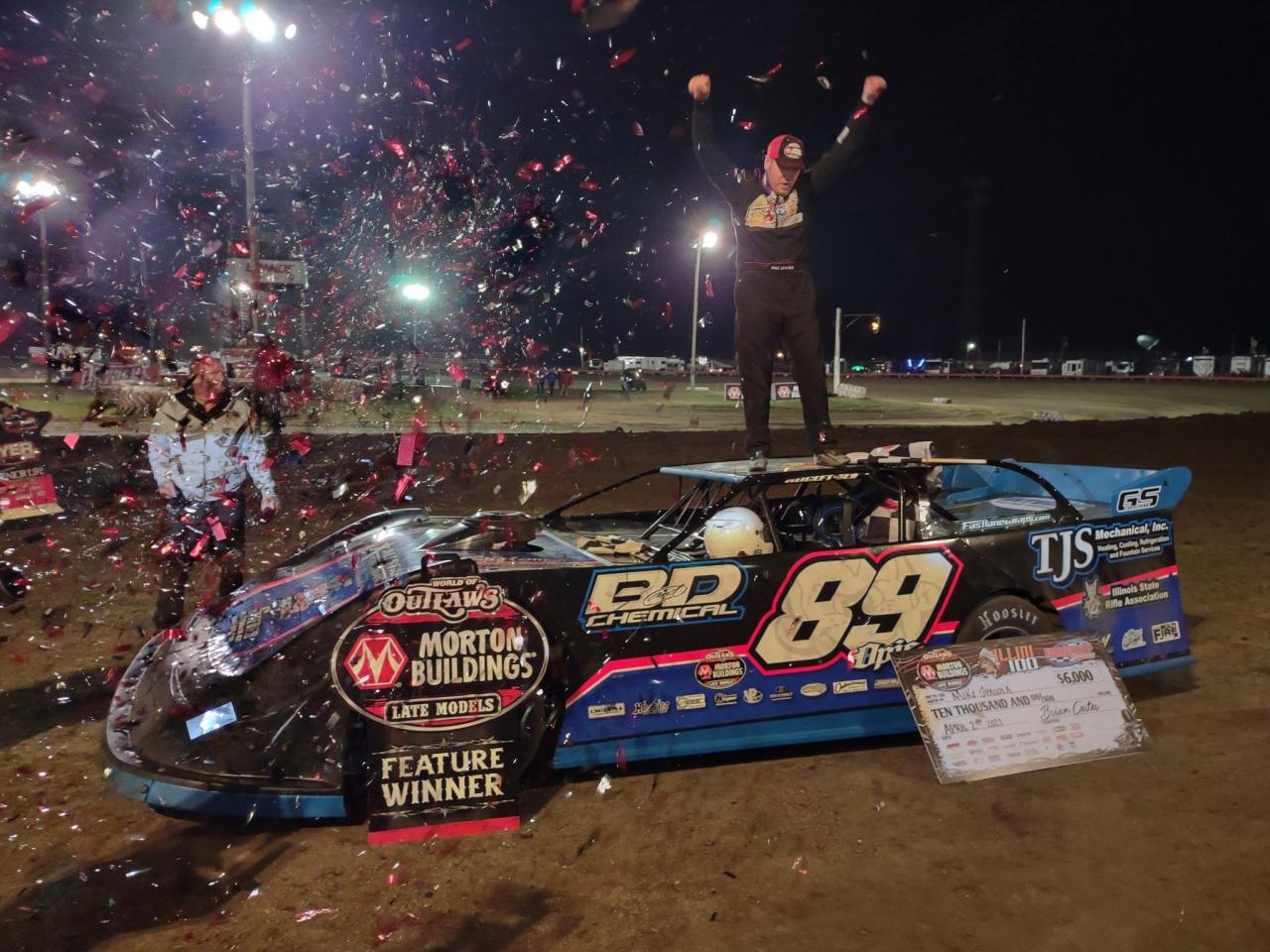 Mike Spatola wins at Farmer City Raceway