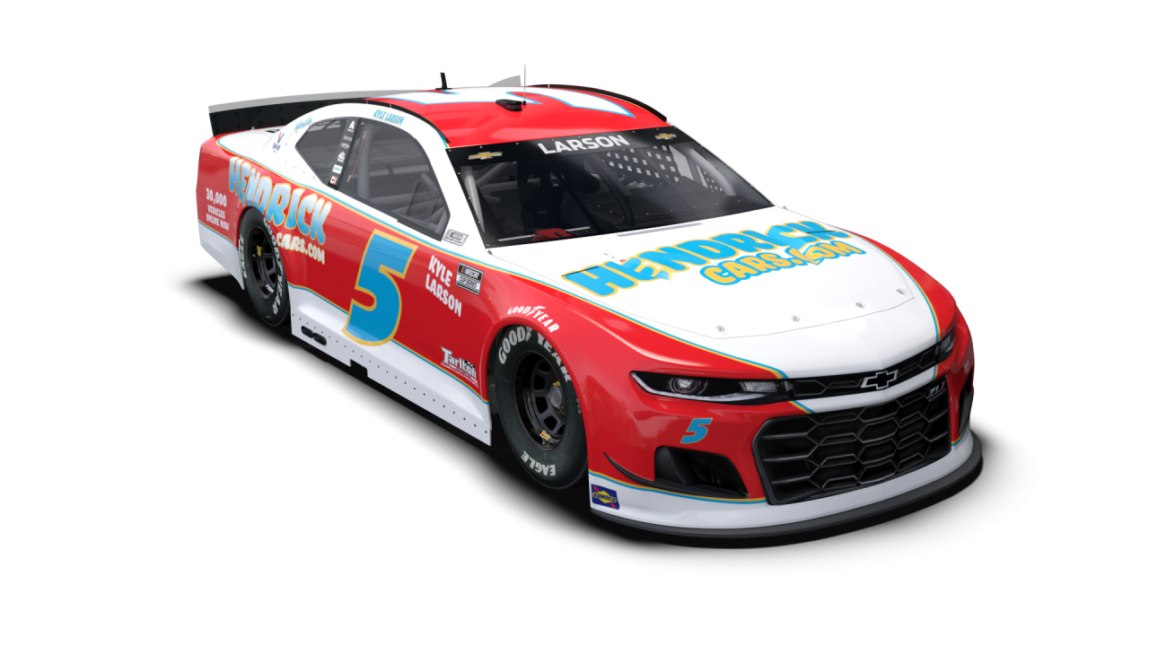 NASCAR Throwback Car - Kyle Larson - 2021 Darlington Raceway throwback