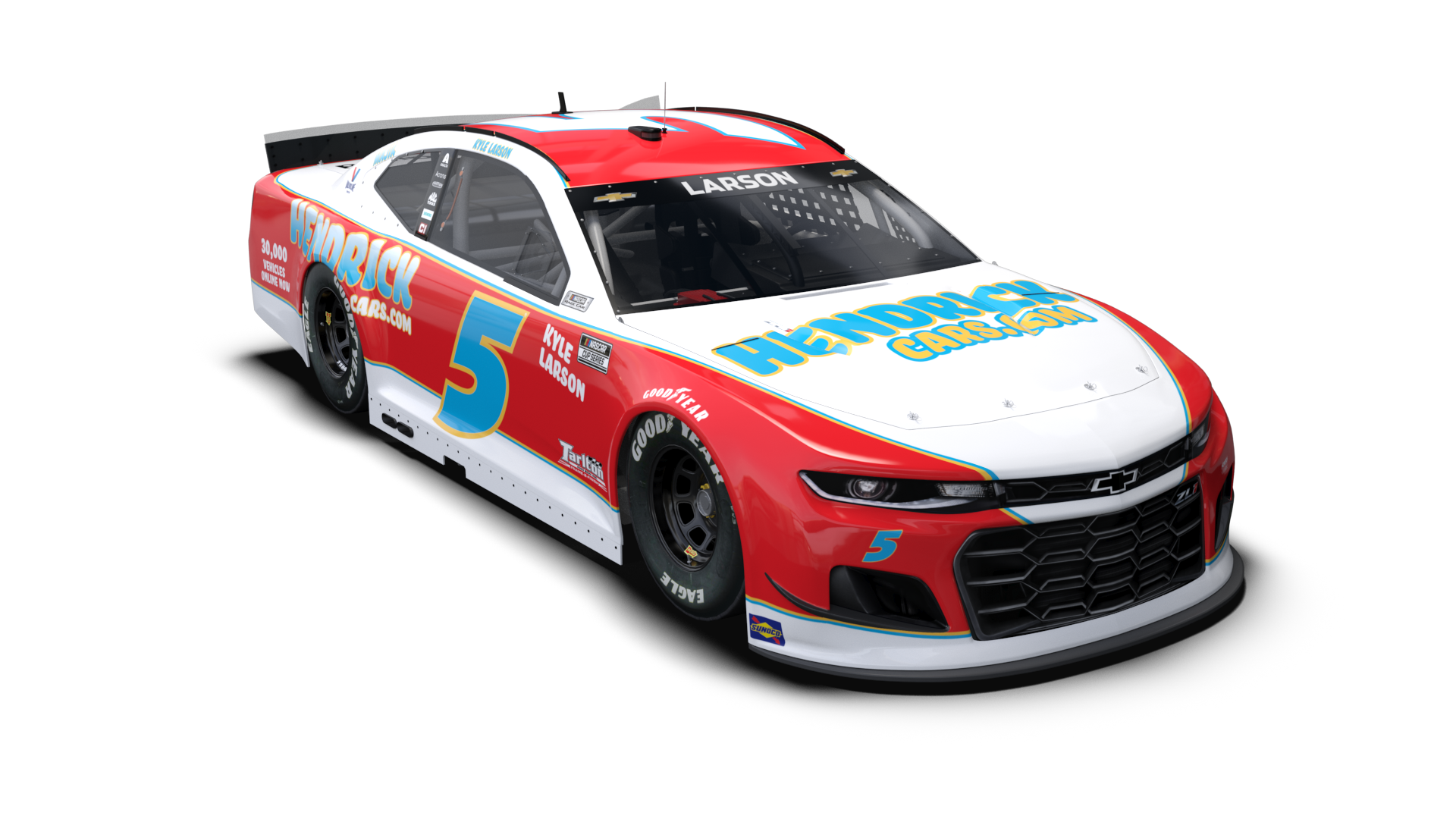 NASCAR Throwback Car - Kyle Larson - 2021 Darlington Raceway throwback