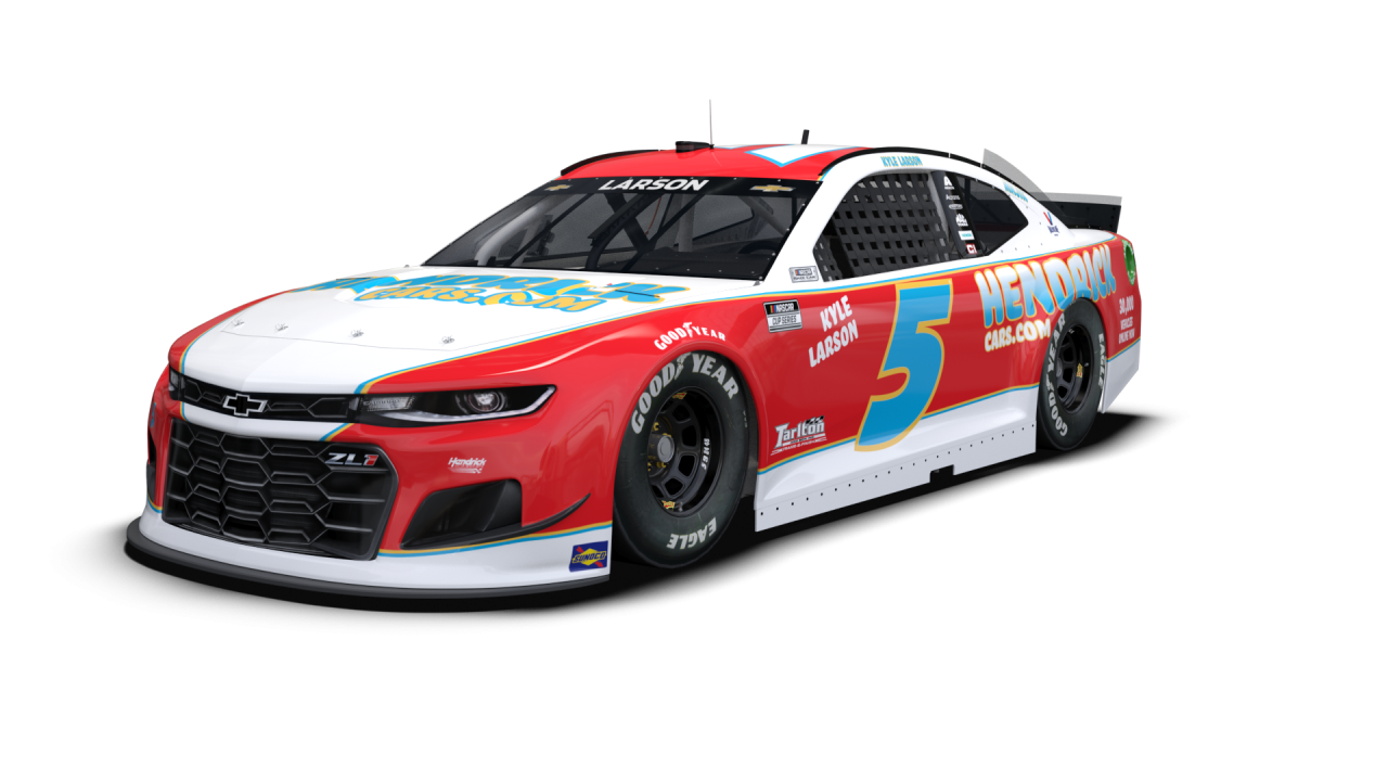 NASCAR Throwback - Kyle Larson - 2021 Darlington Raceway throwback