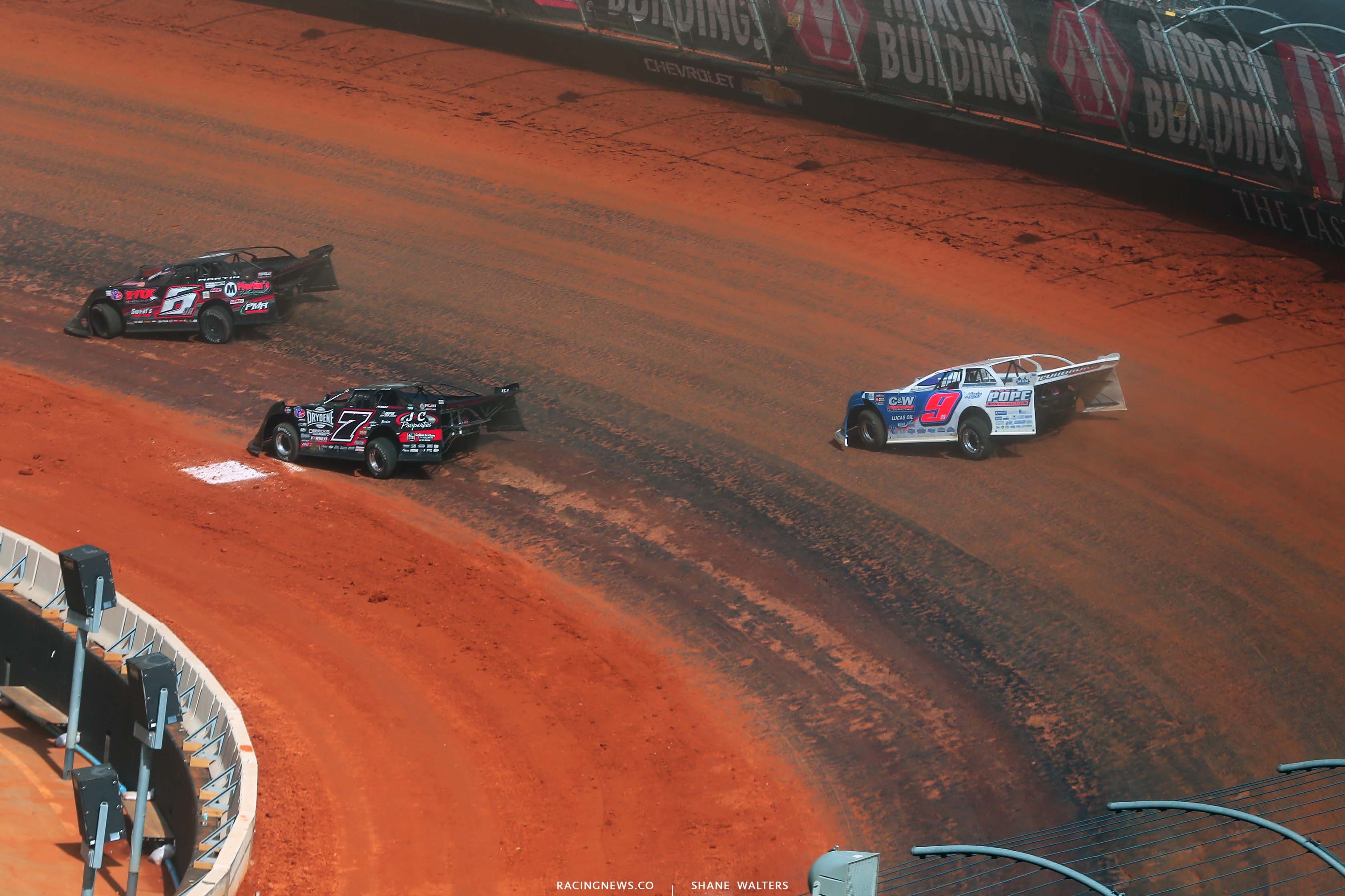 Ricky Weiss and Devin Moran at the Bristol Dirt Track - World of Outlaws Late Model Dirt Series 4424