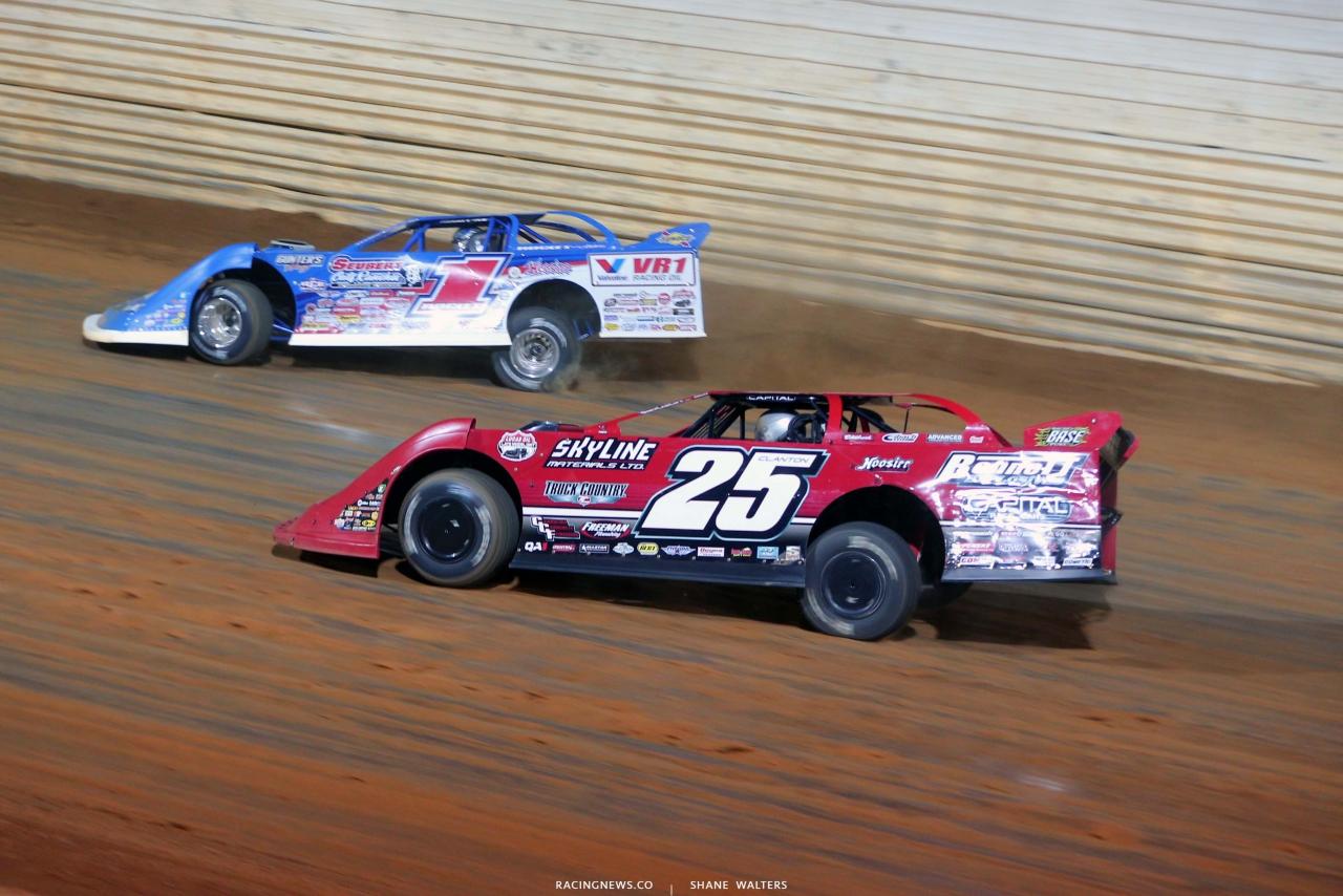Shane Clanton and Brandon Sheppard - Port Royal Speedway - Dirt Late Model Racing 4946