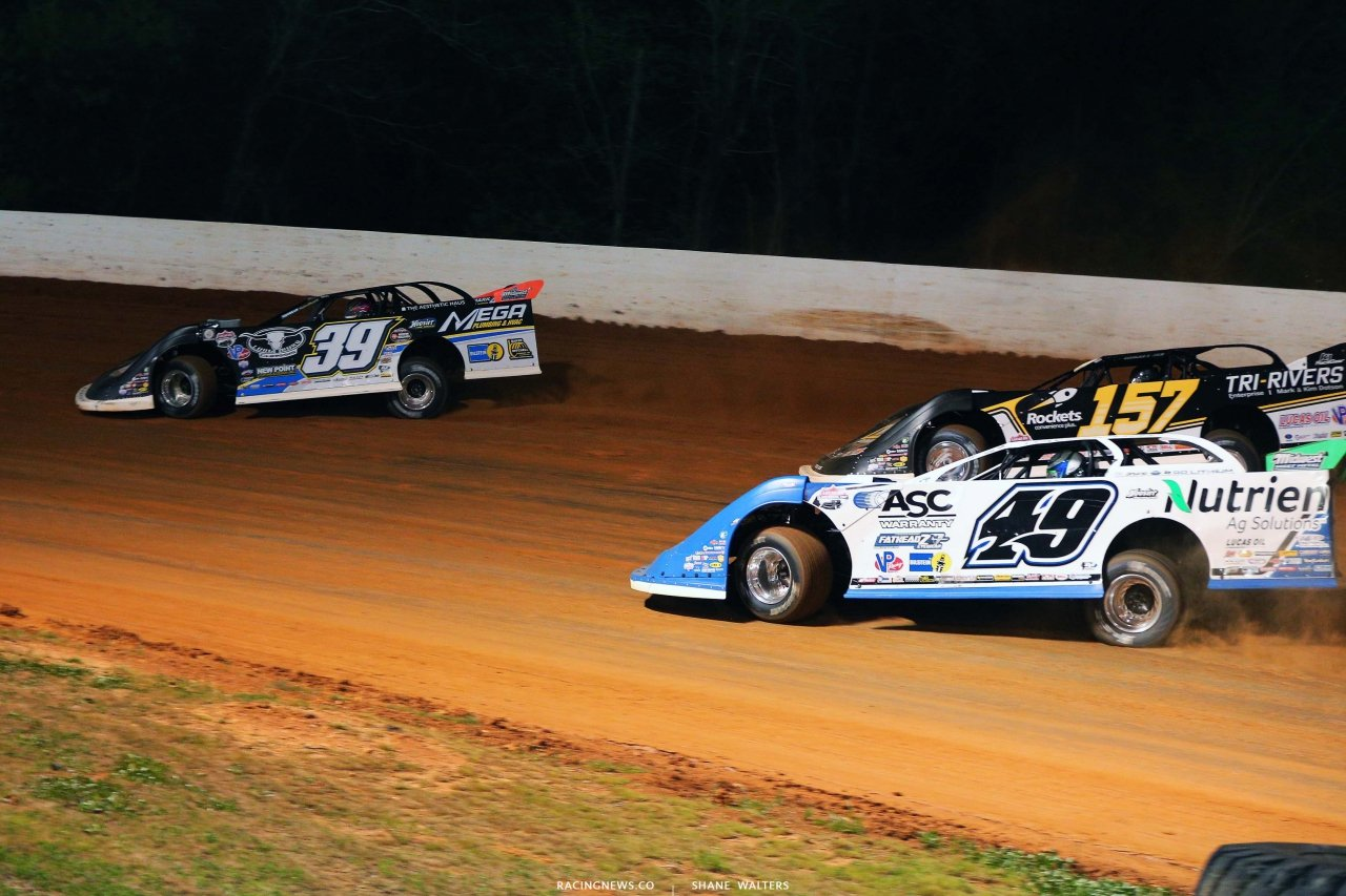 Tim McCreadie, Jonathan Davenport and Mike Marlar at Ponderosa Speedway - Lucas Oil Late Model Dirt Series 5151