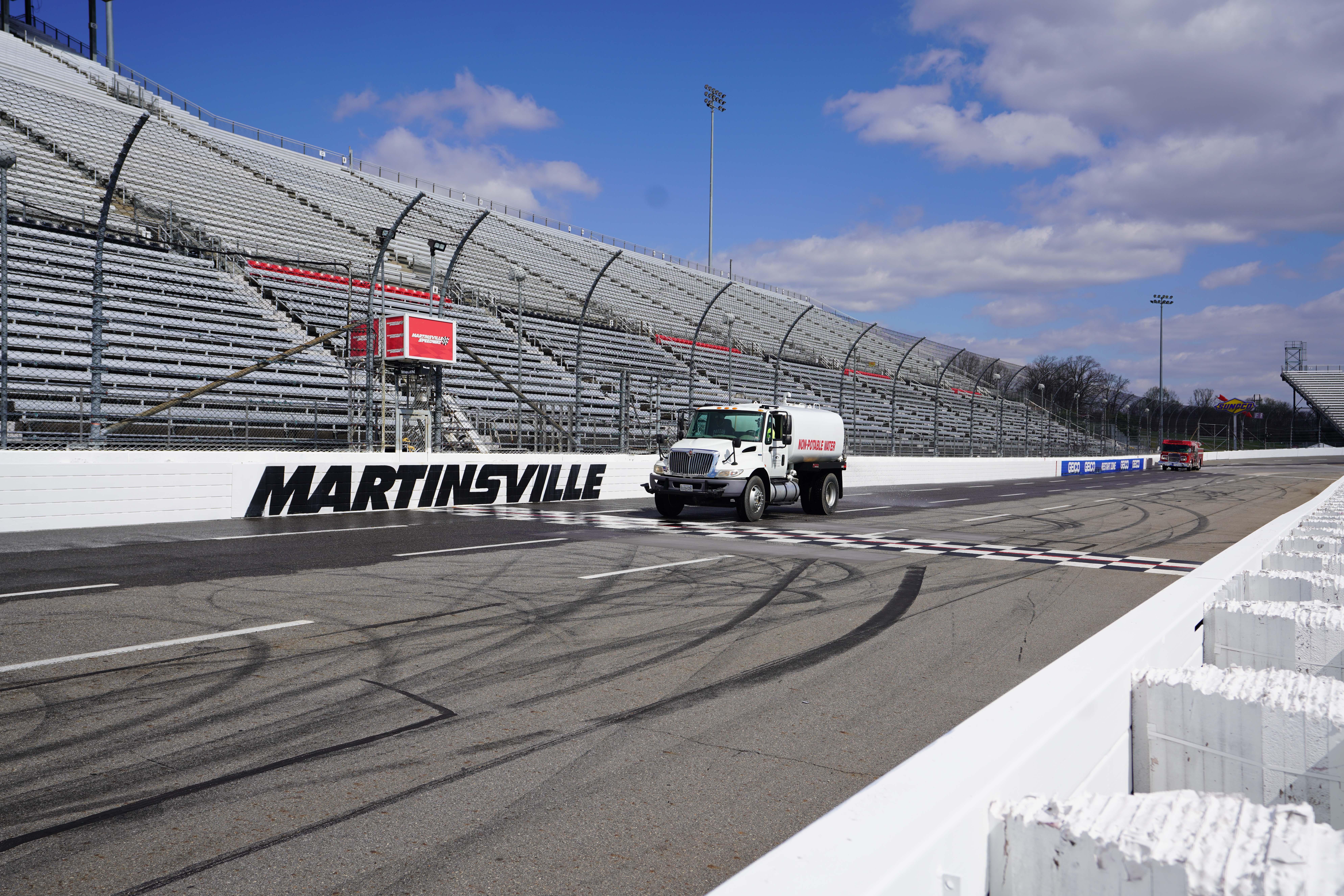 Water truck at Martinsville Speedway