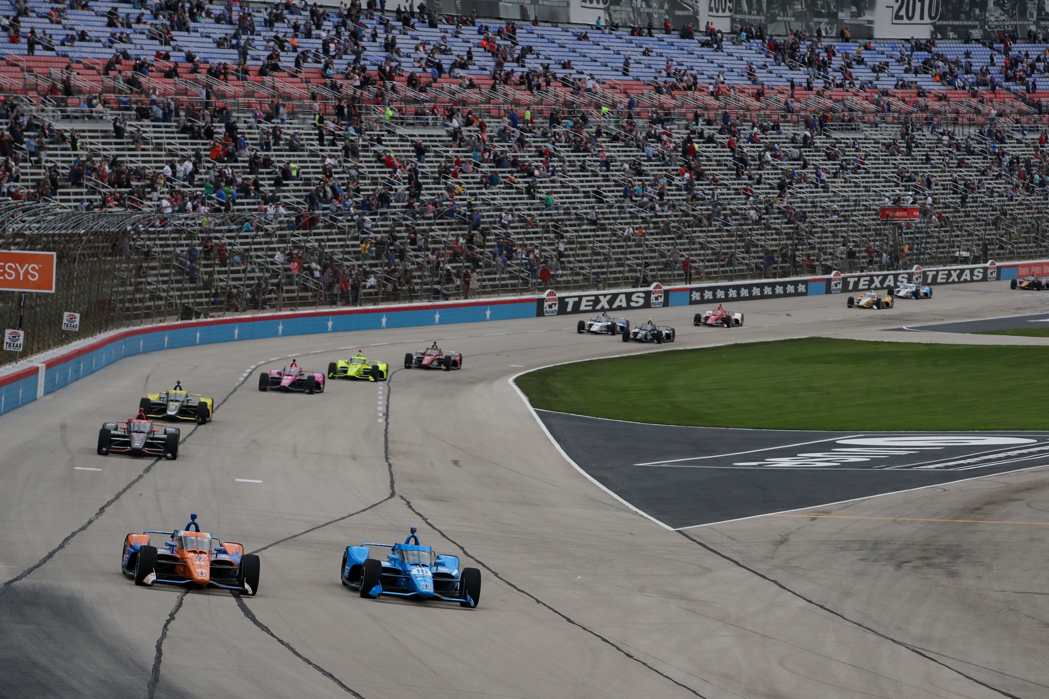 Alex Palou and Scott Dixon at Texas Motor Speedway - Indycar Series