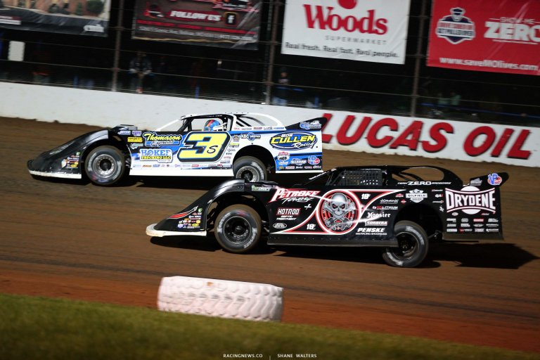 Brian Shirley and Scott Bloomquist - Lucas Oil Speedway - Missouri Dirt Track - LOLMDS 5945