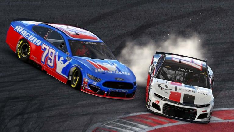 Clint Bowyer crashes James Davison Circuit of the Americas (COTA) - eNASCAR Pro Invitational - iRacing