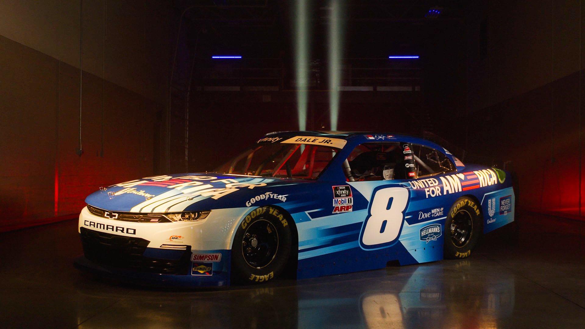 Dale Earnhardt Jr - 2021 Richmond Raceway - United for America paint scheme