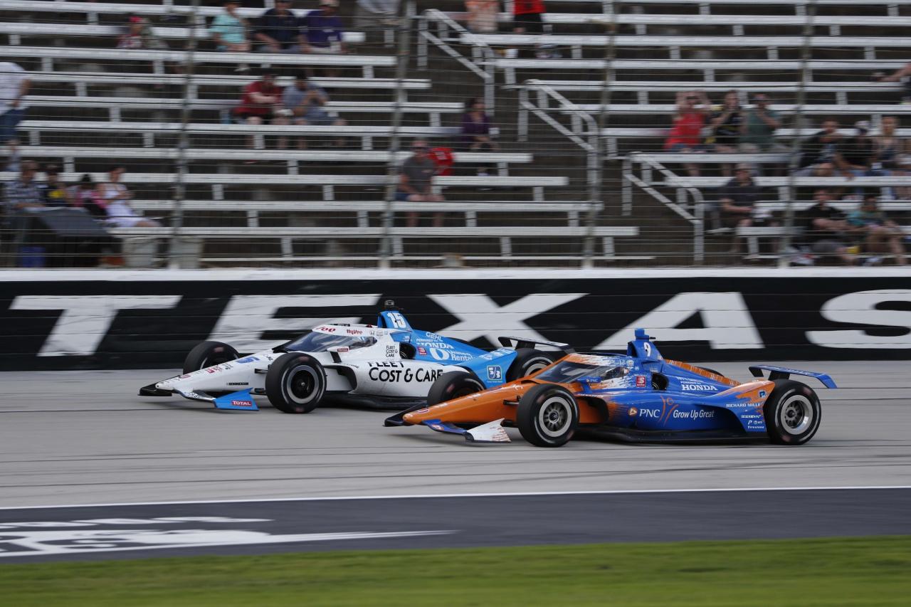 Graham Rahal and Scott Dixon - Texas Motor Speedway - Indycar Series