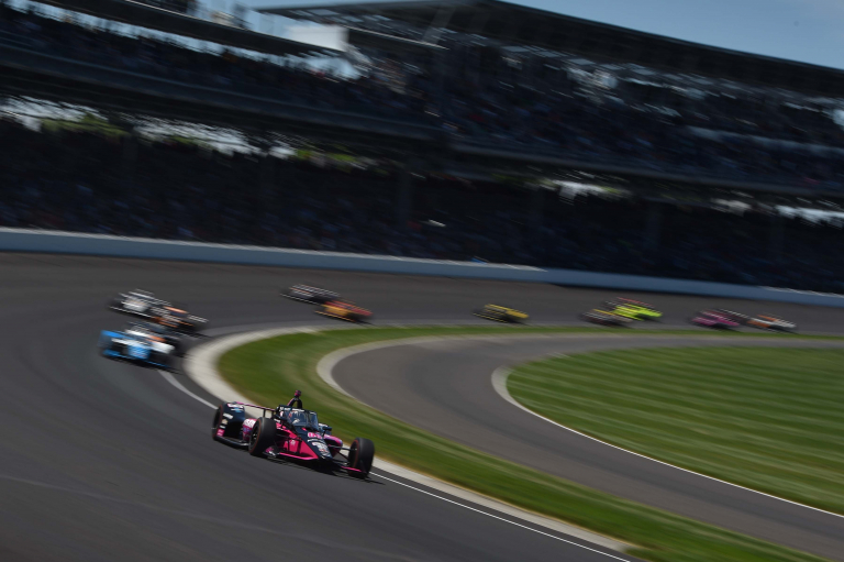 Helio Castroneves leads Indianapolis Motor Speedway - Indy 500