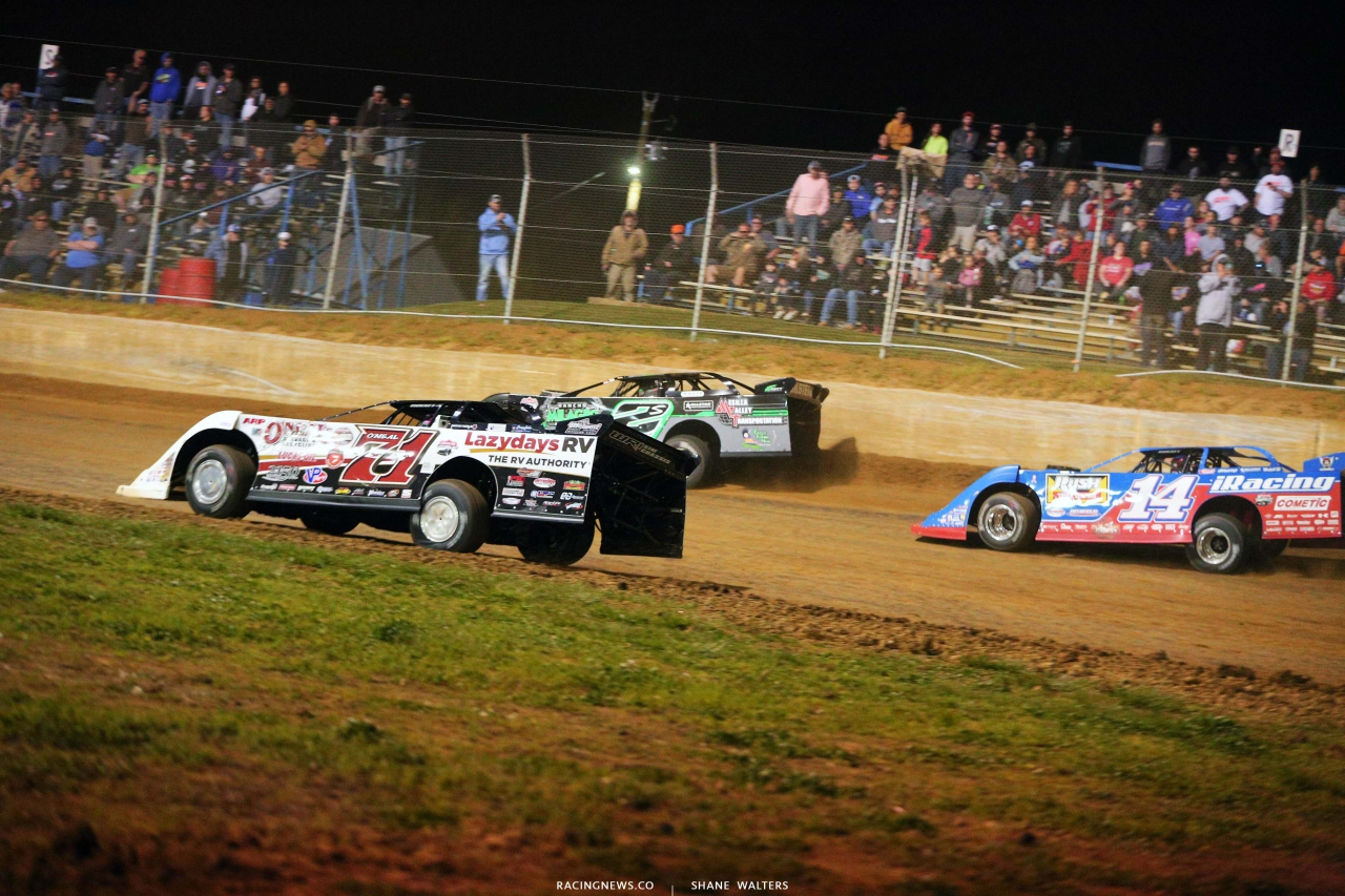 Hudson O'Neal, Stormy Scott and Josh Richards at Florence Speedway - Lucas Late Models 5452