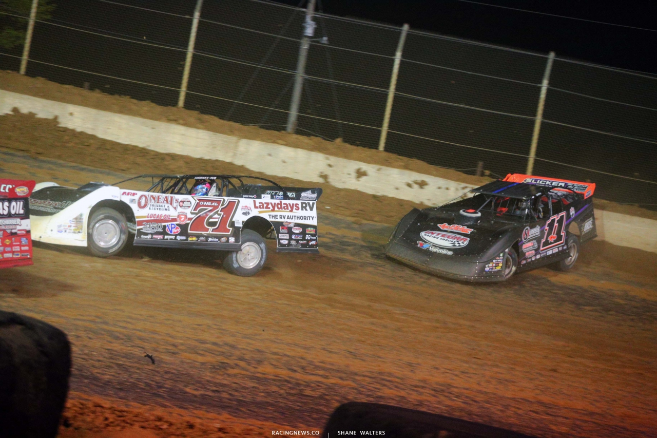 Hudson O'Neal and Josh Rice - Florence Speedway - Dirt Late Model Racing - Lucas Oil Series 5616