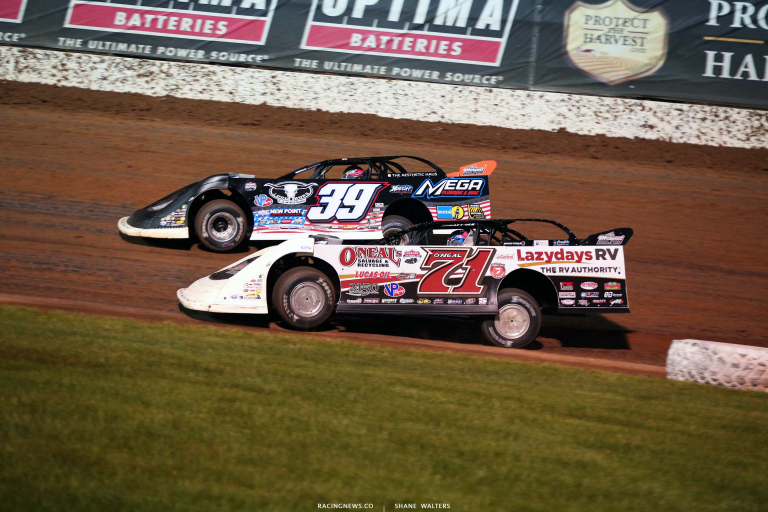 Hudson O'Neal and Tim McCreadie at Lucas Oil Speedway - Lucas Late Models 6386