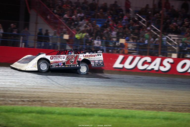 Hudson O'Neal at Lucas Oil Speedway - Dirt Track Racing 6415