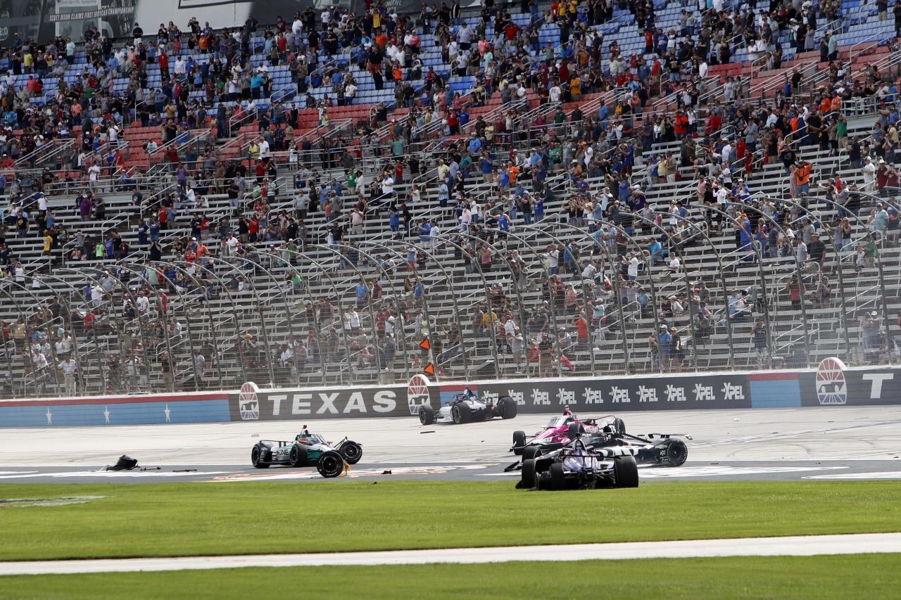 Indycar Series crash at Texas Motor Speedway