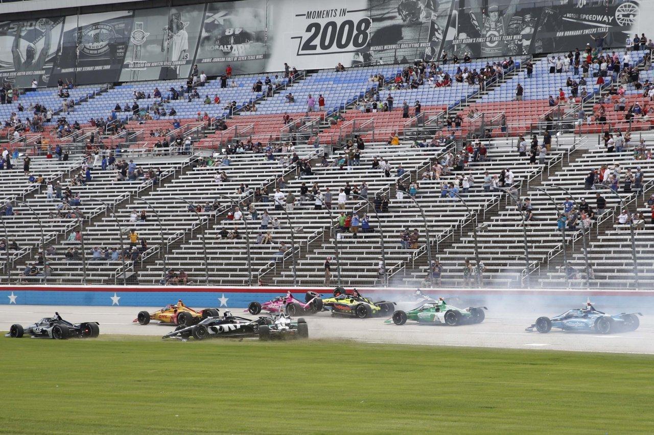 Indycar Series crash at Texas Motor Speedway 2