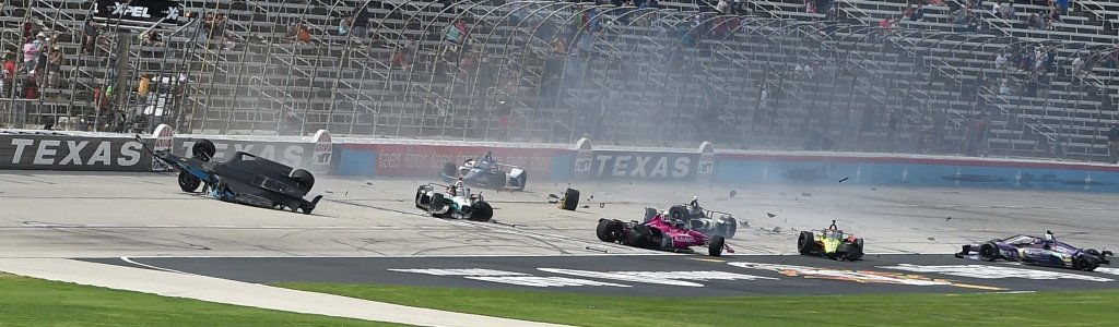 Indycar crash collects 7 on lap 1 at Texas Motor Speedway (Video)