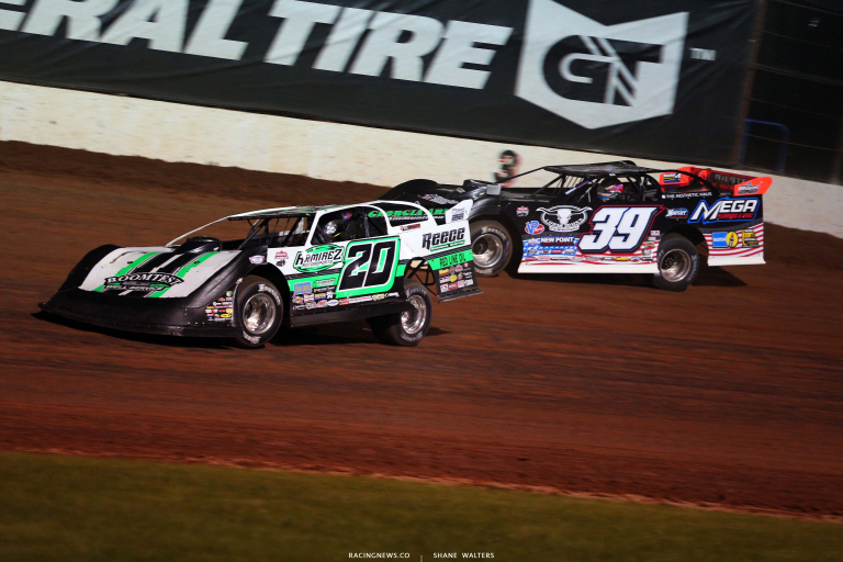 Jimmy Owens and Tim McCreadie - Lucas Oil Speedway - Show Me 100 - Dirt Late Model Racing 6311