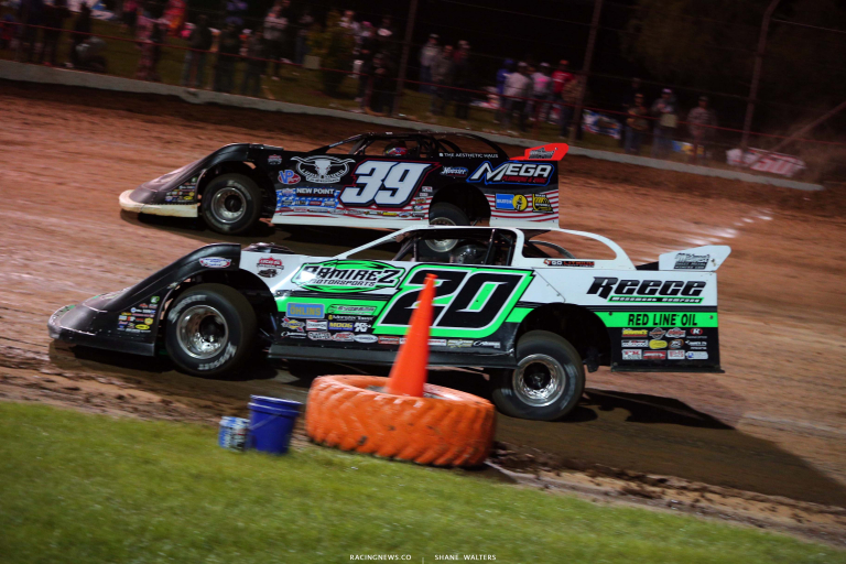 Jimmy Owens and Tim McCreadie at Lucas Oil Speedway - Lucas Dirt Series 6363