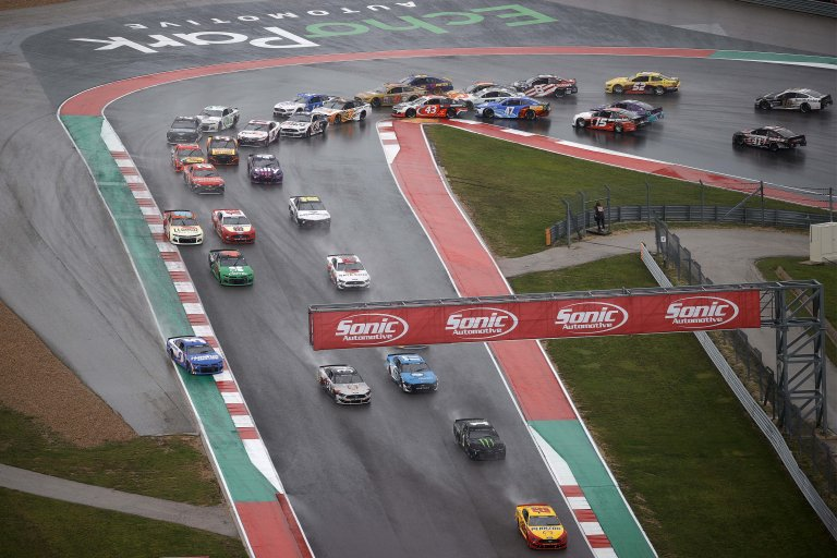 Joey Logano leads Kurt BUsch Circuit of the Americas - COTA - NASCAR Cup Series
