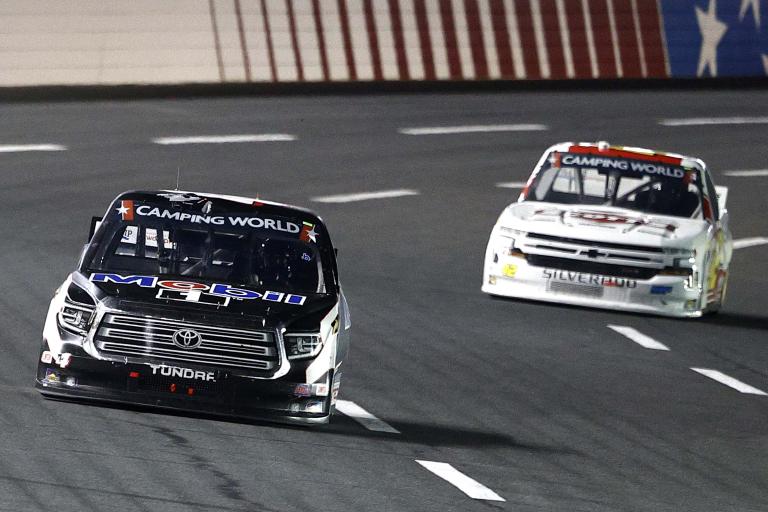 John Hunter Nemechek, Carson Hocevar - Charlotte Motor Speedway - NASCAR Truck Series