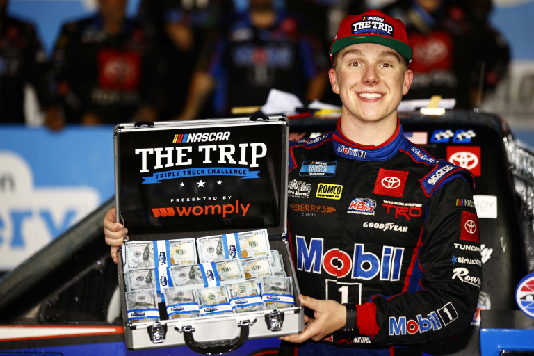 John Hunter Nemechek wins at Charlotte Motor Speedway - Victory Lane