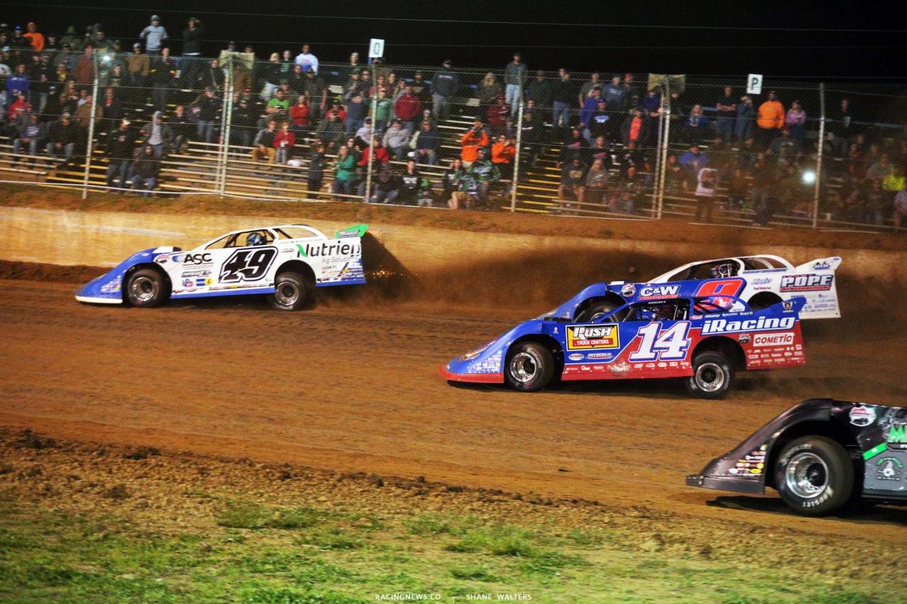 Jonathan Davenport, Josh Richards and Devin Moran - Dirt Track Racing - Florence Speedway - LOLMDS 5428