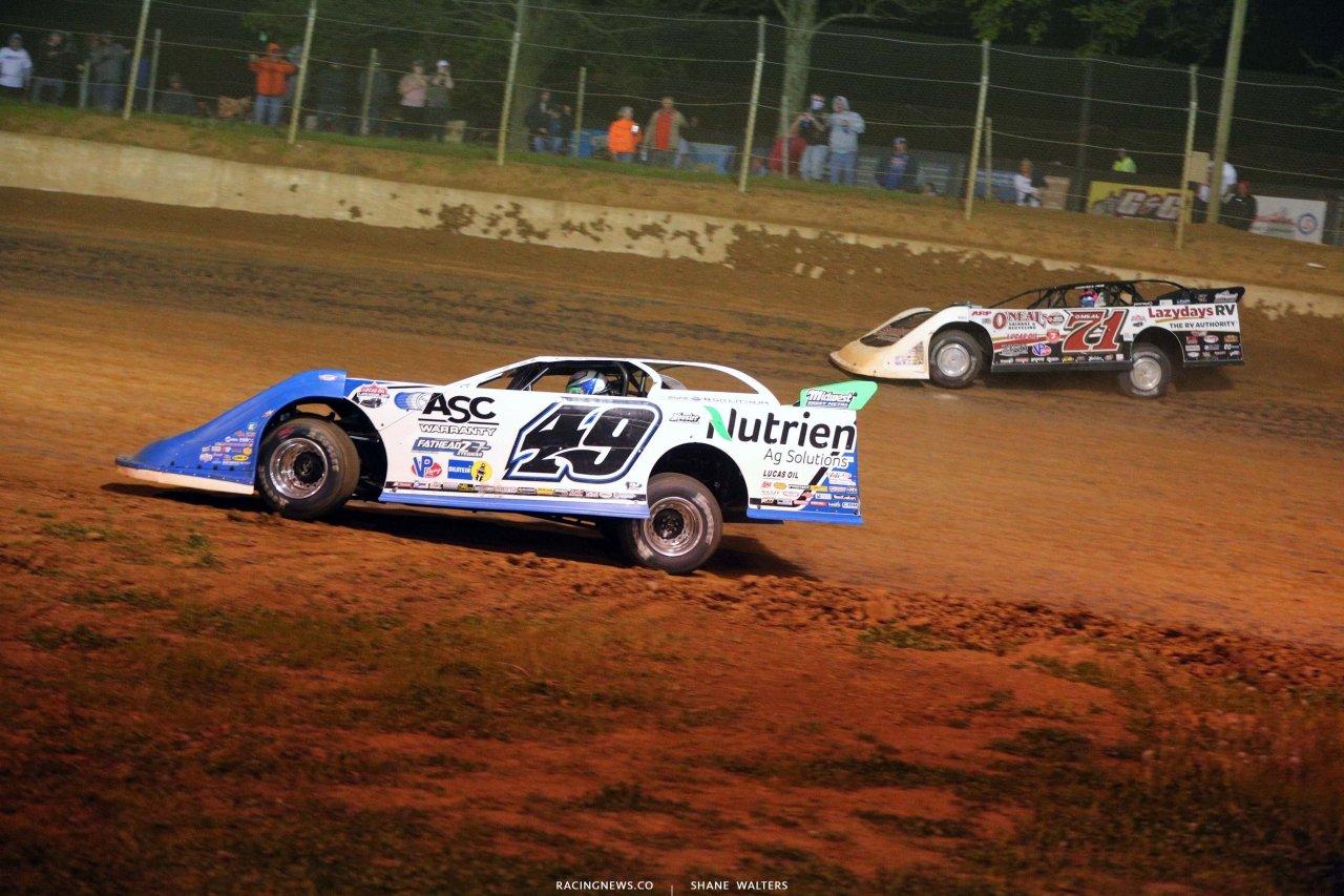 Jonathan Davenport and Hudson O'Neal at Florence Speedway - Dirt Late Model Racing - Lucas Series 5507