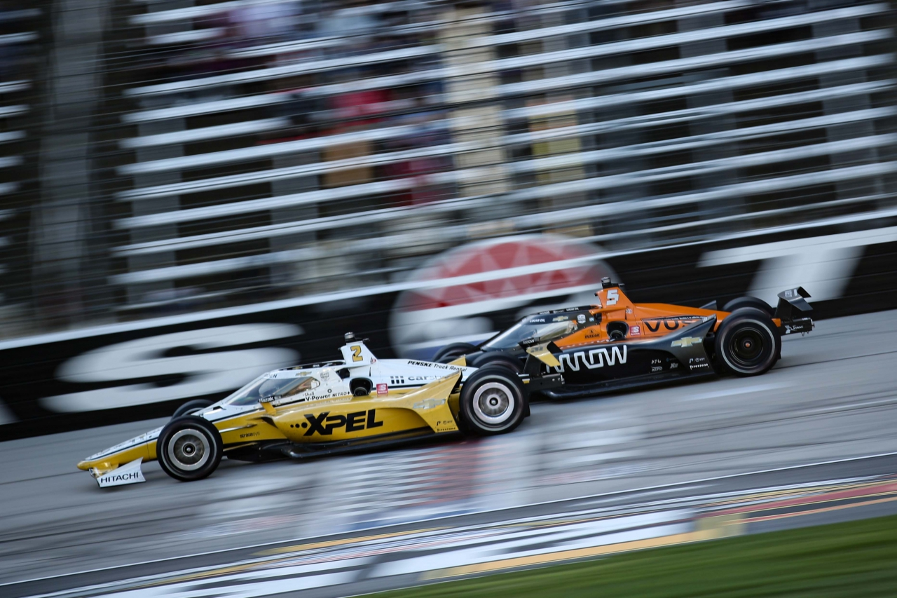 Josef Newgarden and Pato O'Ward at Texas Motor Speedway - Indycar Series