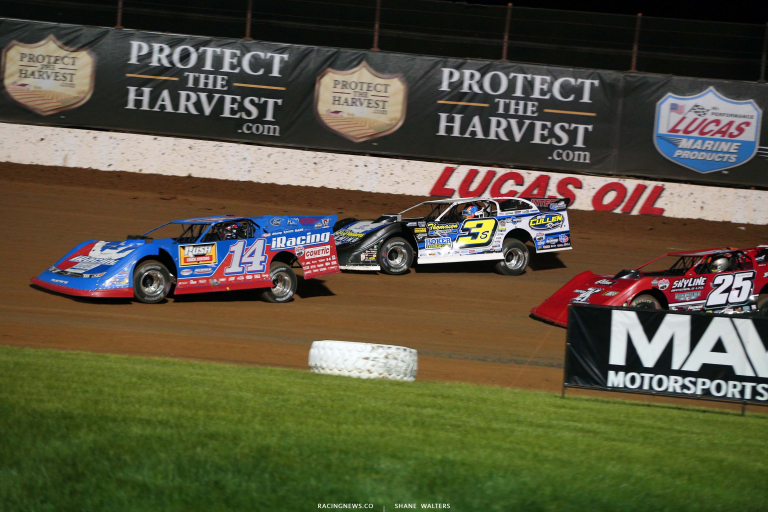 Josh RIchards, Brian Shirley and Shane Clanton - Lucas Oil Speedway - Lucas OIl Late Model Dirt Series 6009