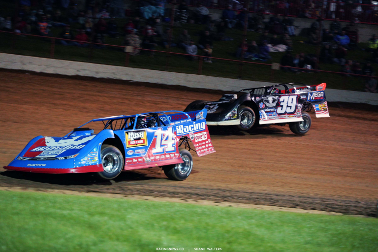 Josh Richards and Tim McCreadie - Lucas Oil Speedway - Show Me 100 - LOLMDS 6207