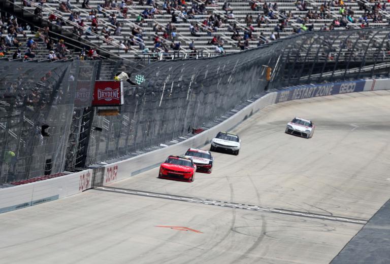 Justin Allgaier wins stage one - Dover International Speedway - NASCAR Xfinity Series