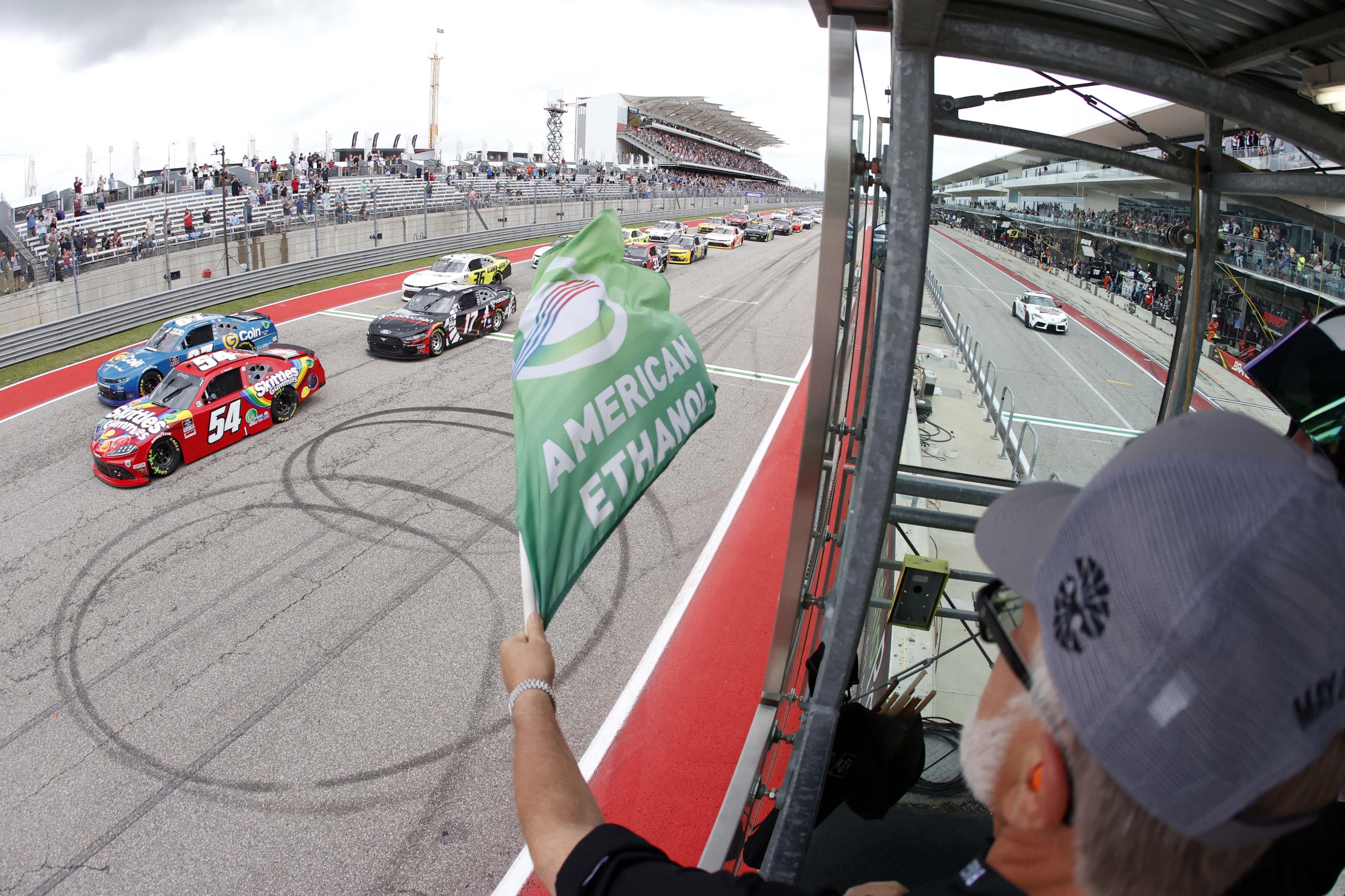 Kyle Busch Green Flag - Circuit of the Americas - COTA - NASCAR Xfinity Series