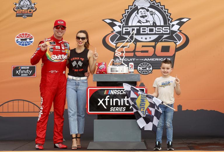 Kyle Busch, Samantha Busch, Brexton Busch - Circuit of the Americas - COTA - NASCAR Xfinity Series