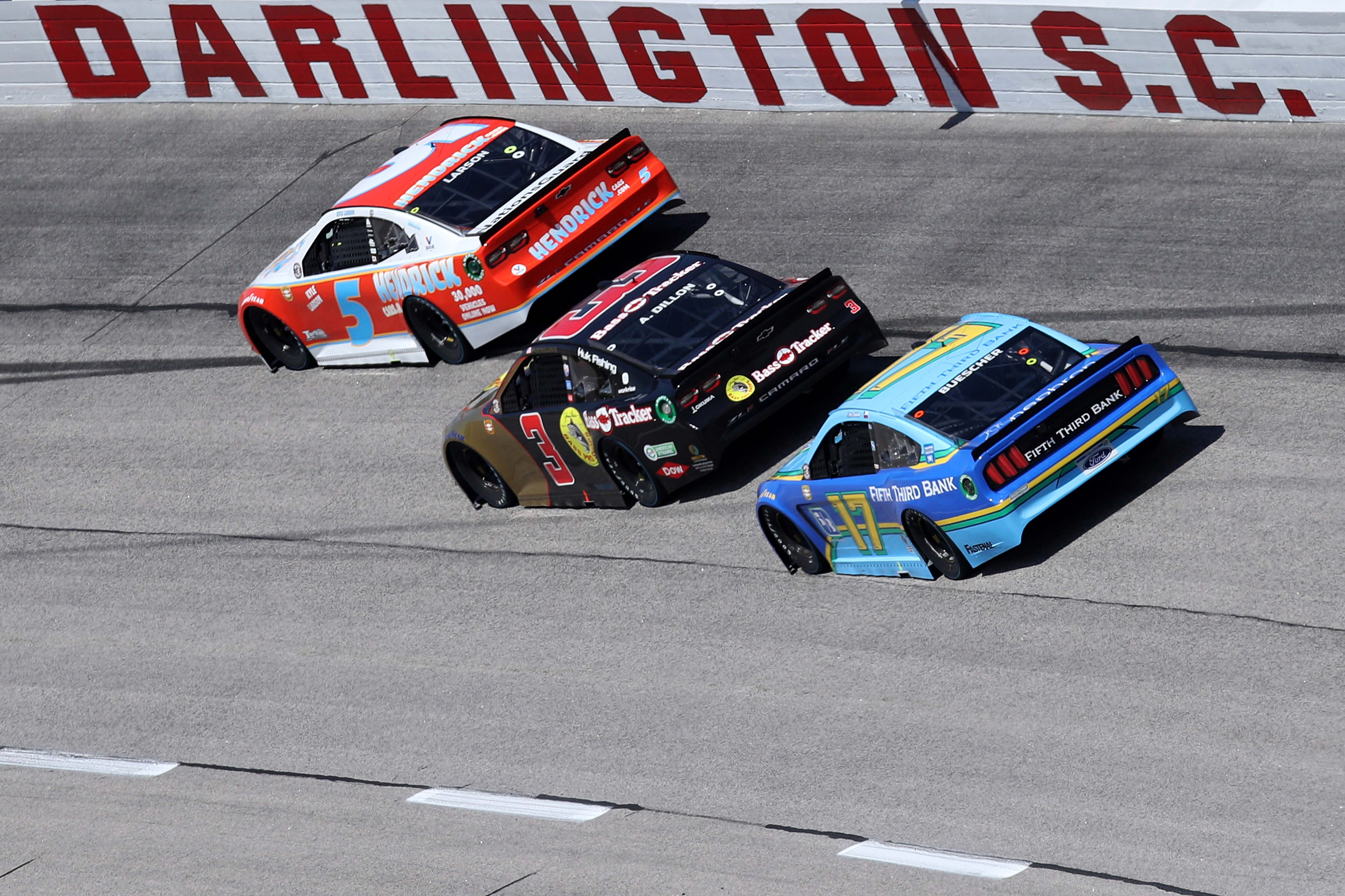 Kyle Larson, Austin Dillon, Chris Buescher - Darlington Raceway _ NASCAR Cup Series