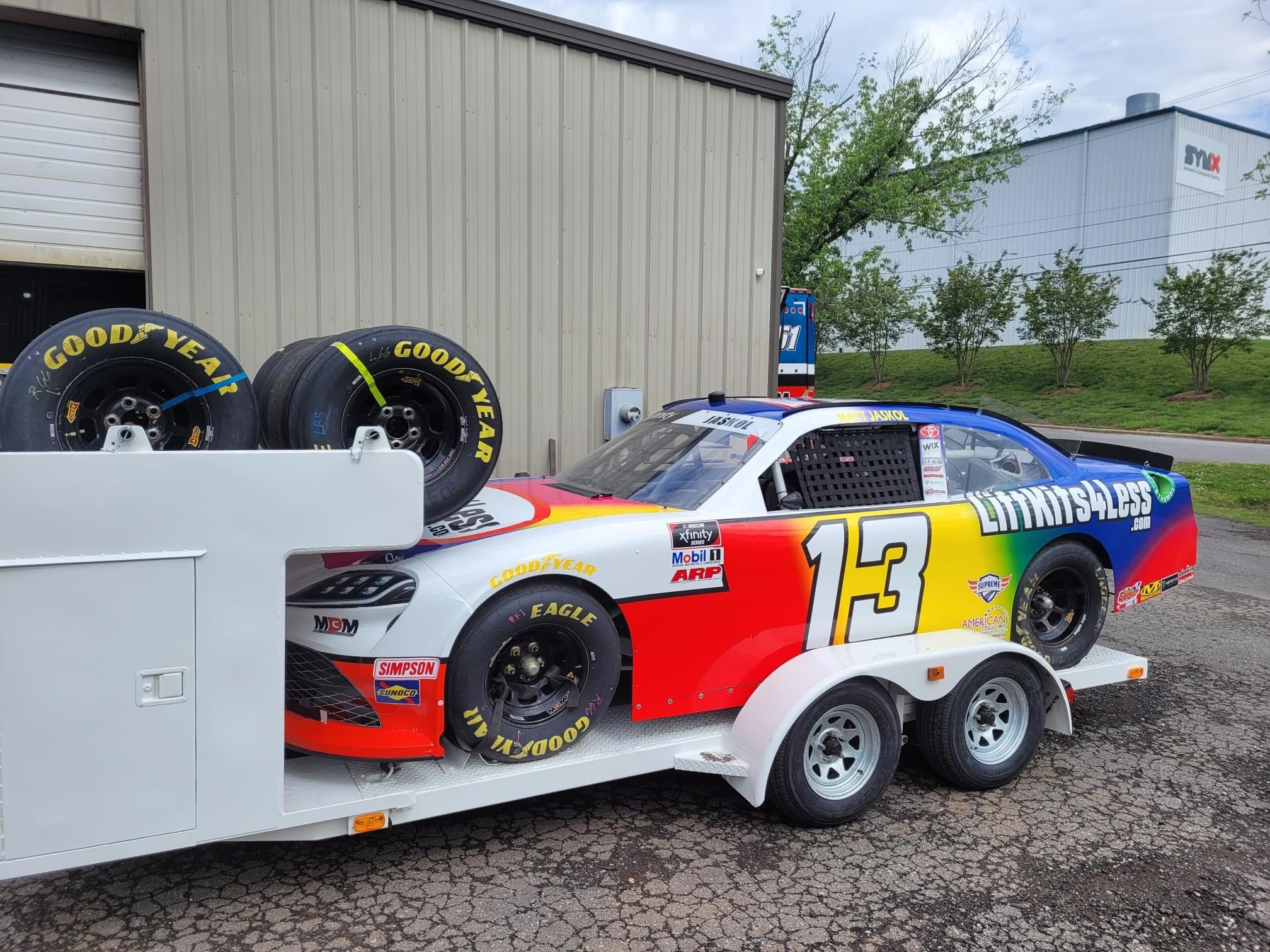 MBM Motorsports - Open NASCAR trailer