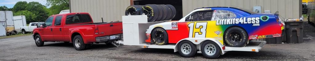 MBM Motorsports heading to NASCAR race in an open trailer