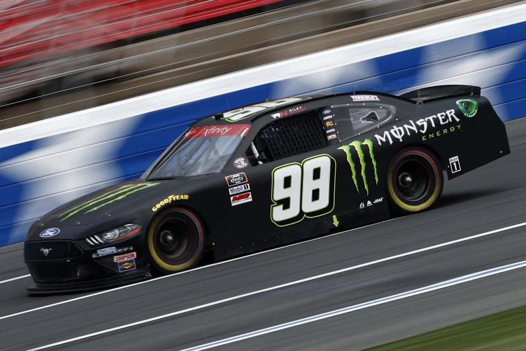 Riley Herbst at Charlotte Motor Speedway - NASCAR Xfinity Series