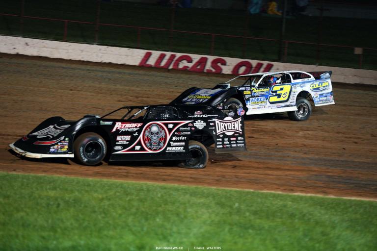 Scott Bloomquist and Brian Shirley - Dirt Late Model Racing - Lucas Oil Speedway 5985