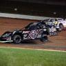 Scott Bloomquist and Brian Shirley at Lucas Oil Speedway - LOLMDS - Dirt Racing 5984