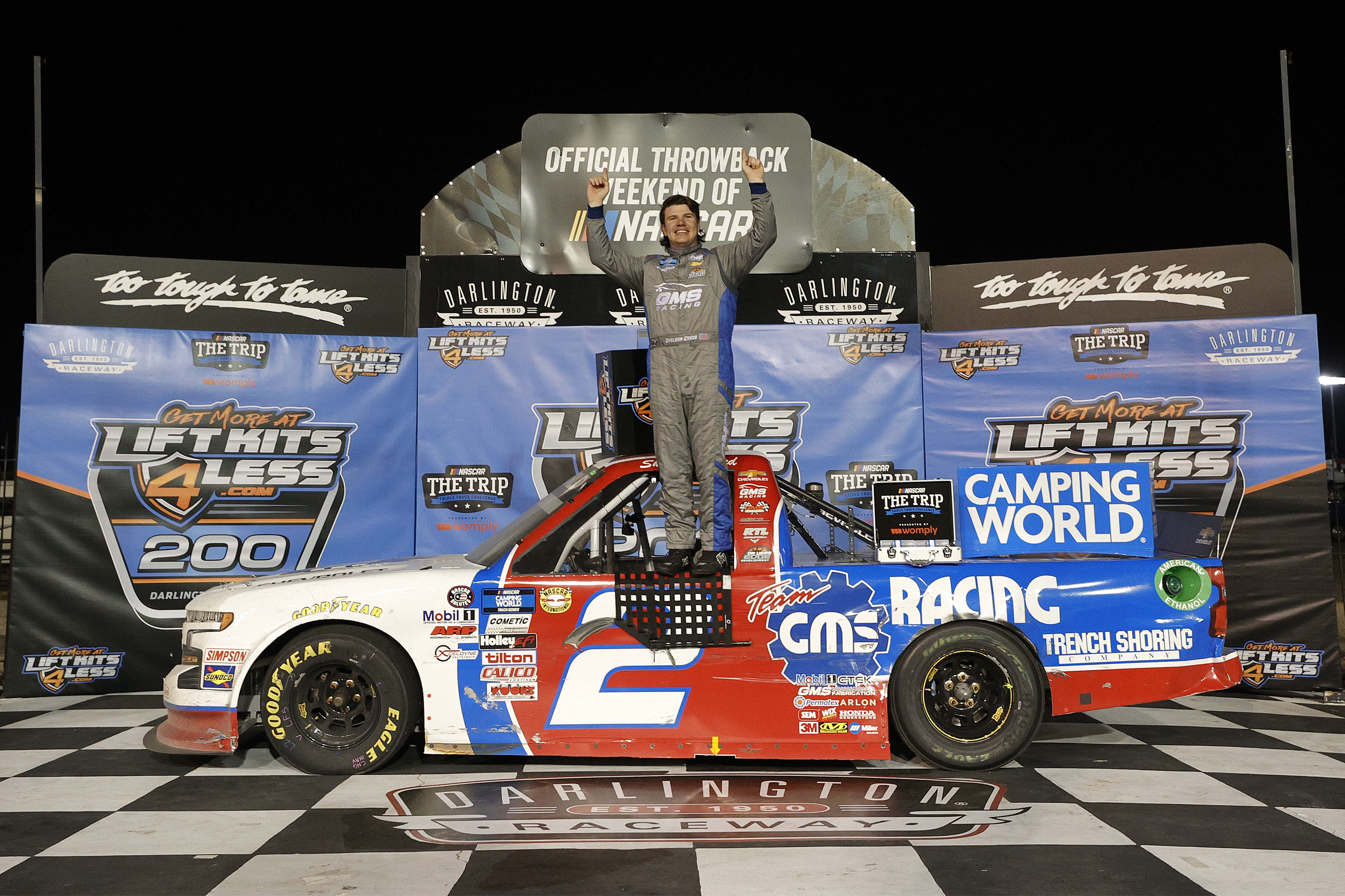 Sheldon Creed - Jason Lefler throwback - Darlington Raceway - NASCAR Truck Series