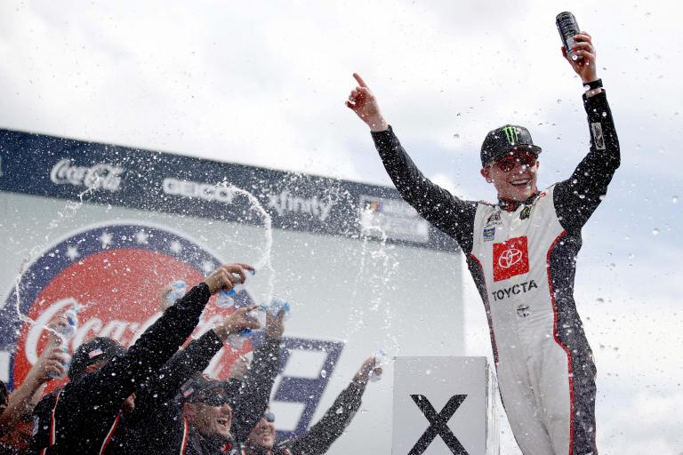 Ty Gibbs in victory lane at Charlotte Motor Speedway - NASCAR Xfinity Series