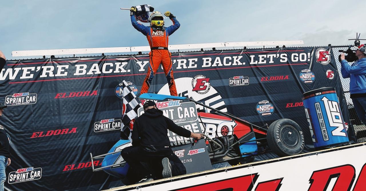 Tyler Courtney wins the USAC National Sprint Car race at Eldora Speedway