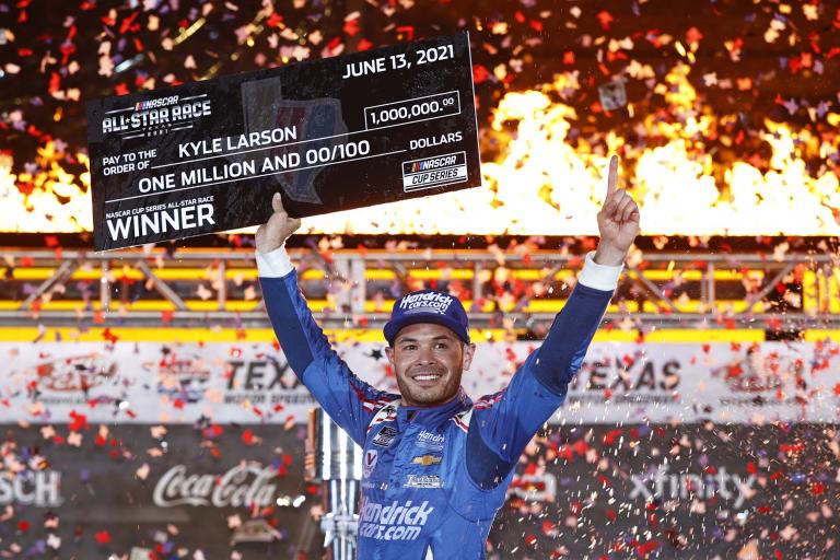 1 Million check for Kyle Larson - NASCAR All-Star Race - Texas Motor Speedway