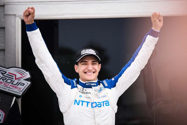 Alex Palou in victory lane - Road America - Indycar Series