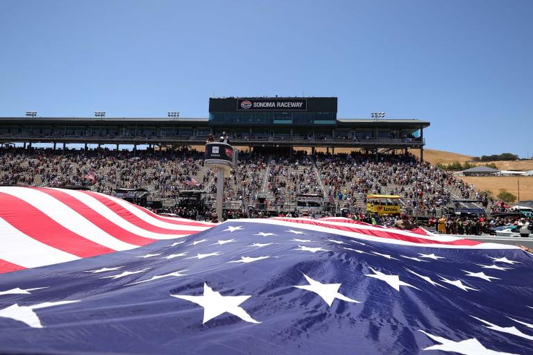 American Flag at Sonoma Raceway - NASCAR Cup Series