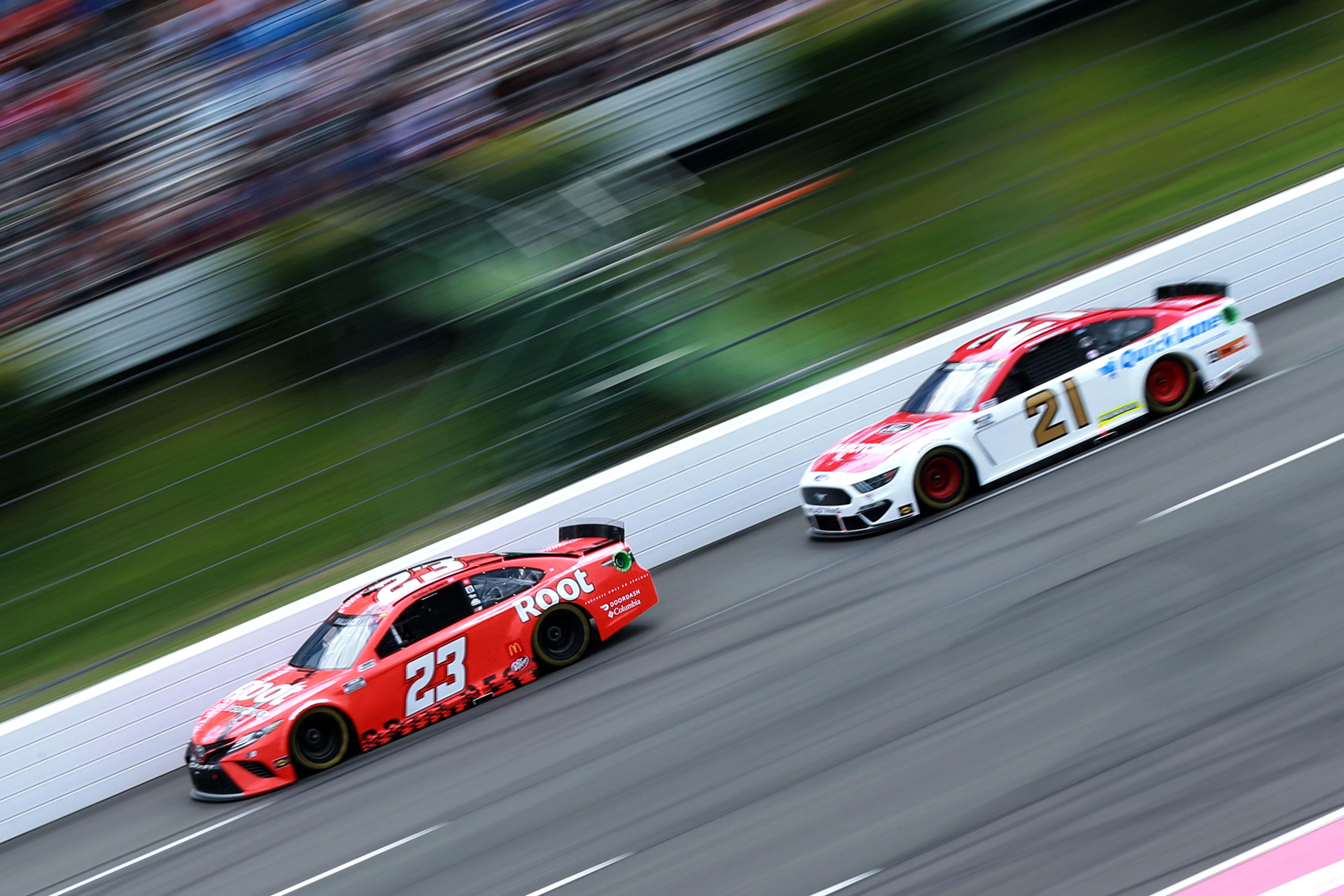 Bubba Wallace, Matt DiBenedetto Pocono Raceway - NASCAR Cup Series