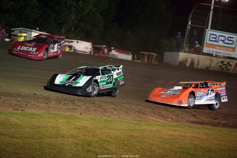 Jimmy Owens, Kyle Bronson and Earl Pearson Jr - Magnolia Motor Speedway - Dirt Track Racing 6757
